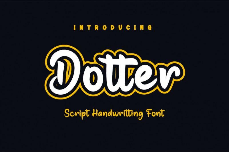 Dotter Display Font
