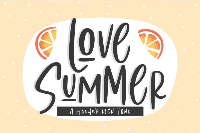 Love Summer | Handwritten Font
