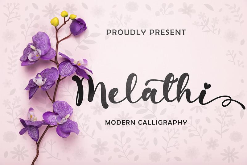 Melathi Script Font