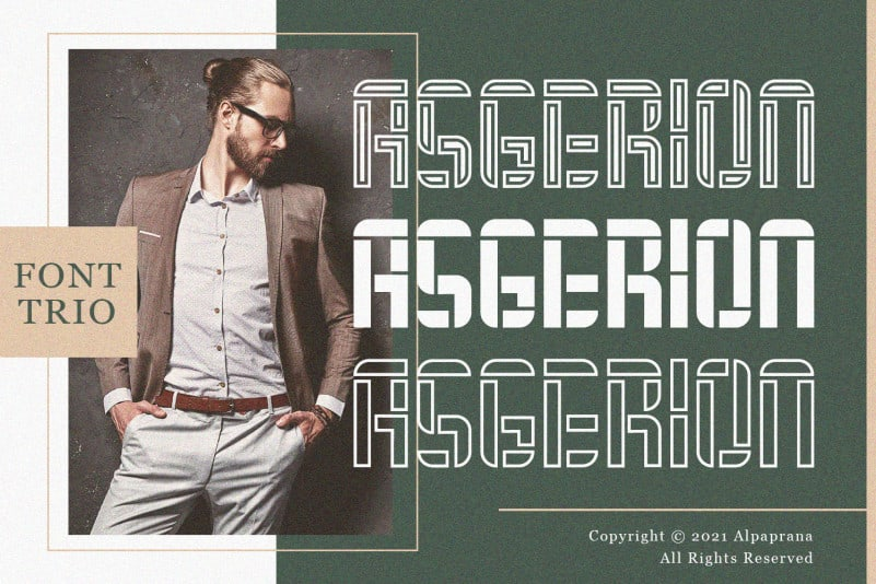 Asgerion – Display Font Trio