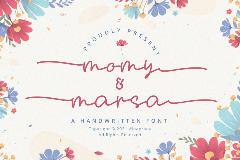 Momy & Marsa – Handwritten Font