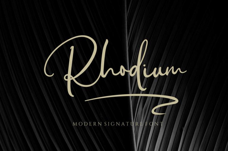 Rhodium Script Font