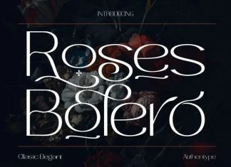 Roses Bolero Sans Serif Font