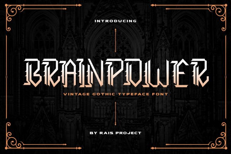 Brainpower Font