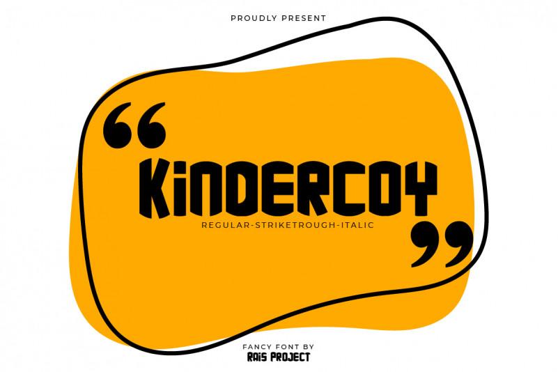 kindercoy Font
