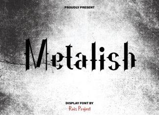 Metalish Display Font