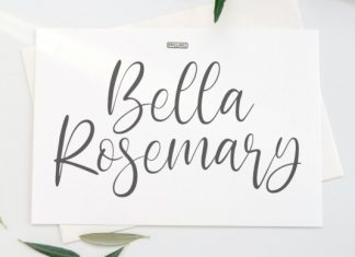 Bella Rosemary Calligraphy Font