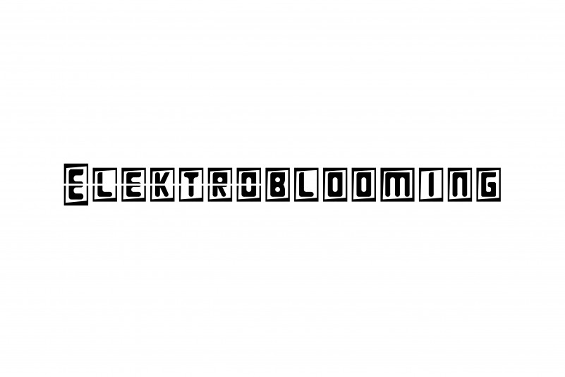 Elektroblooming Font