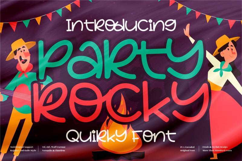 Party Rocky Font