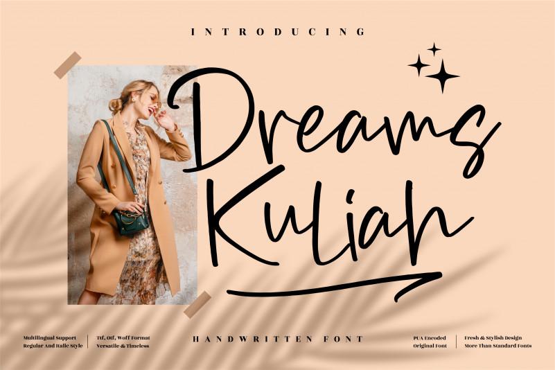 Dreams Kuliah Font