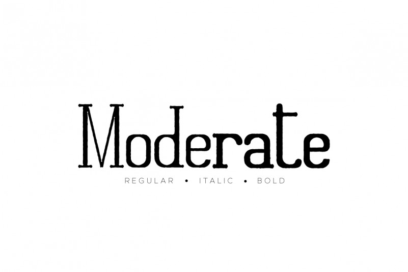 Moderate Font