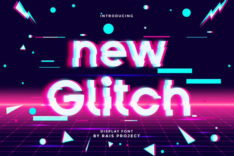 New Glitch Font