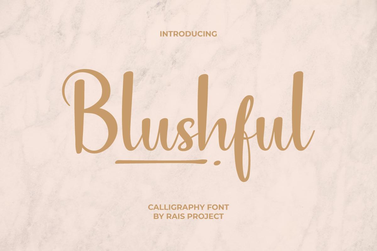 Blushful Font