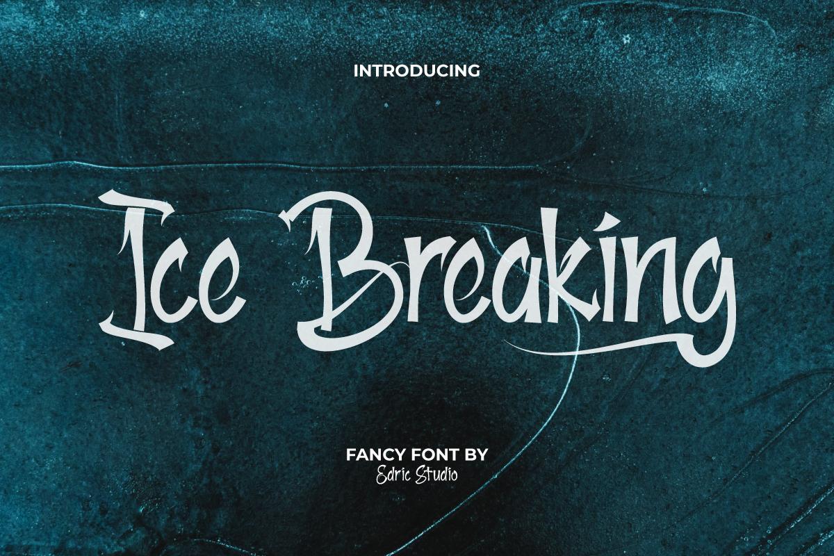 Ice Breaking Font